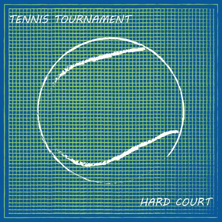 concrete court: Tennis background, vector