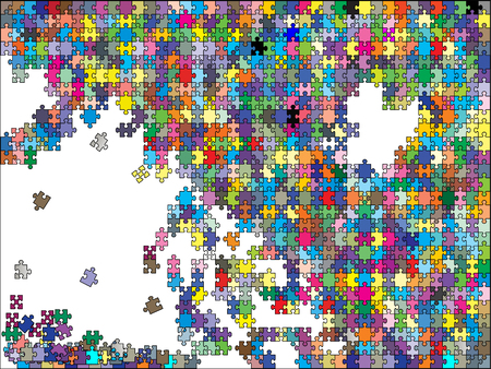 missing link: colorful background puzzle, vector
