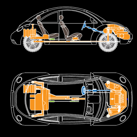vactor: The most important parts of the car, vactor Illustration