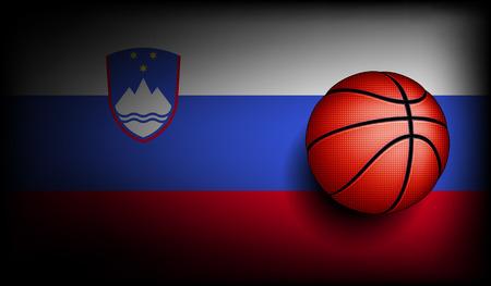 slovenian: Slovenian basketball, vector