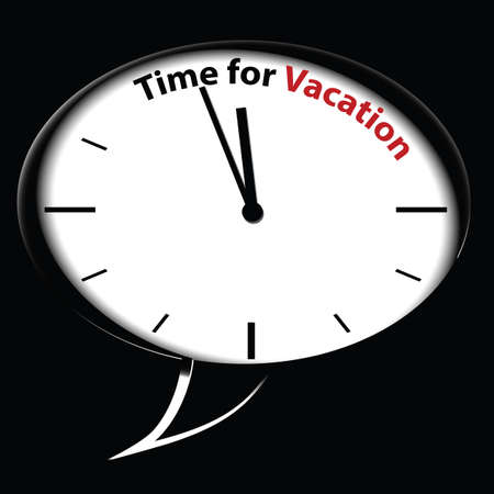 schedule system: Bubble clock �Time for Vacation�, vector