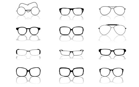spectacle frame: Sunglasses set, vector