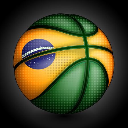 international basketball: Brazilian basket ball, vector