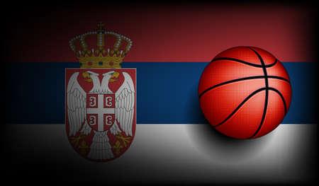 international basketball: Serbian basket ball, vector