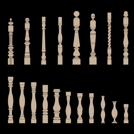 balustrade: set of architectural element â?? balustrade, vector