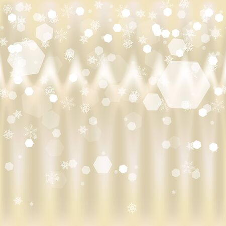 xmas background: Light abstract xmas background with snowflakes, vector Illustration