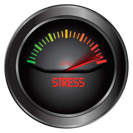 criterion: Stress meter indicate, vector