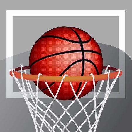 nba: Basketball ball, vector