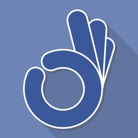 human okay hand sign: abstract  OK okay hand symbol, vector