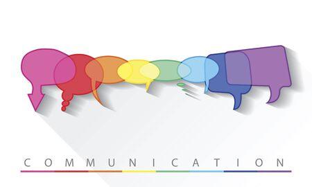 multinational: Illustration of a communication concept, vector Illustration