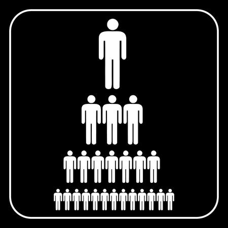 jerarqu�a: Gr�fico de jerarqu�a corporativa de una empresa de gente de s�mbolo. , Vector