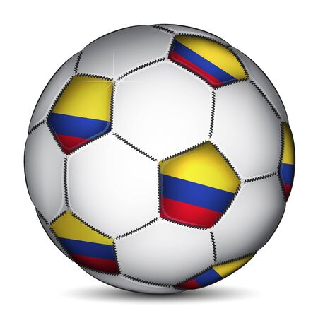 republic of colombia: Colombia soccer ball, vector