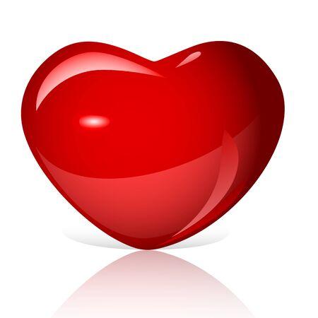 bright: bright red heart