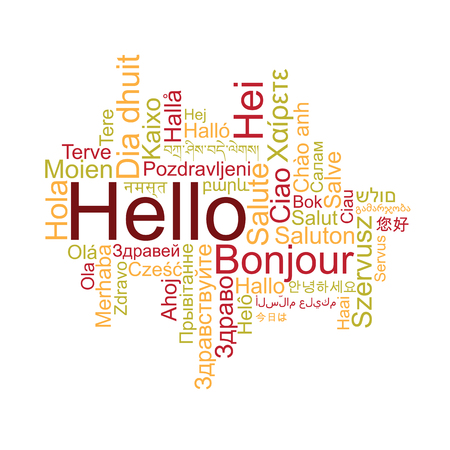 bonjour: Hello Tag Cloud in different languages
