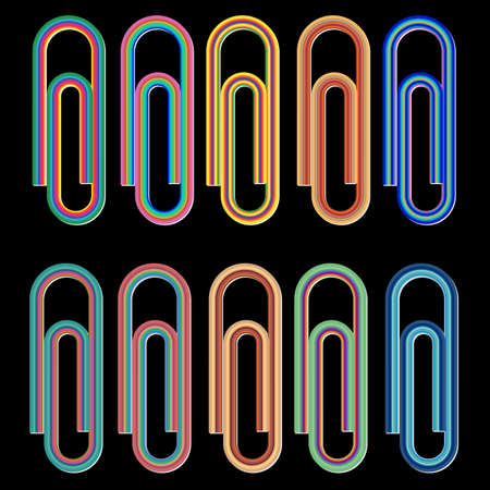 paperclips: colored paper-clips
