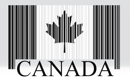 Canada barcode flag, vector Illustration