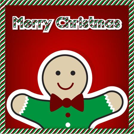Christmas gingerbread card 2015, vector Illustration