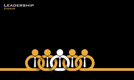 Leadership chain concept illustration.
