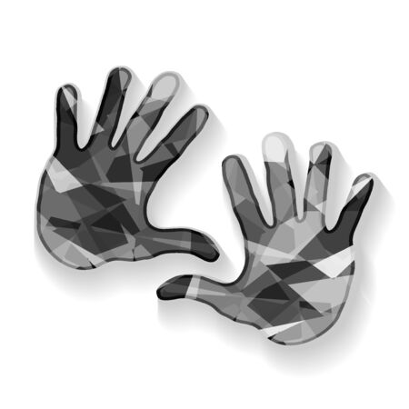 Colorful hands, vector Illustration