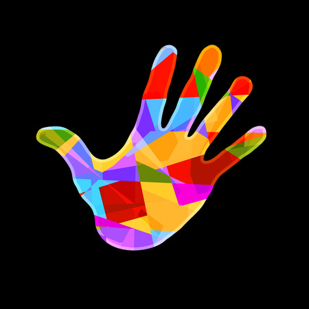 Colorful hand, vector Illustration