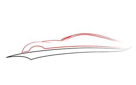 Sport Car vector symbol, vector Set of modern auto linear silhouettes