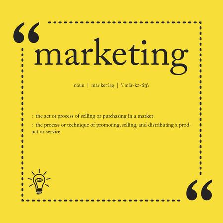 Marketing definition 向量圖像
