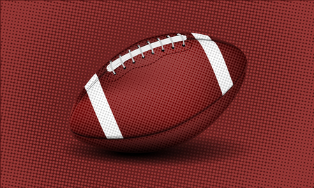 American college high school junior striped football isolated on white background