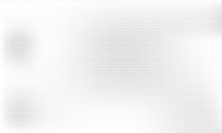 Grunge halftone vintage abstract pattern vector background. Ink dots texture design element. Black white dirty wallpaper