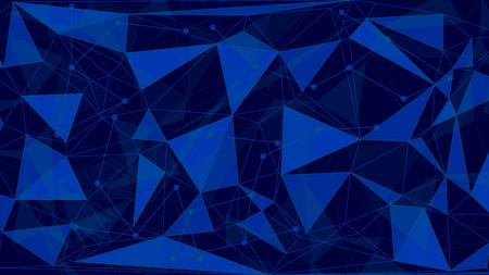 Dreieckiger Low-Poly-Hintergrund. Wireframe-Lichtverbindungsstrukturvektor Illustration