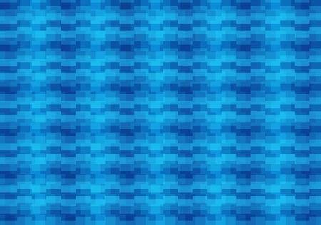 Blue abstract textured polygonal background. Blurry rectangular pattern design vector