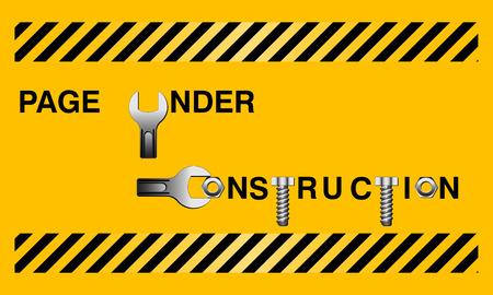 under construction, vector