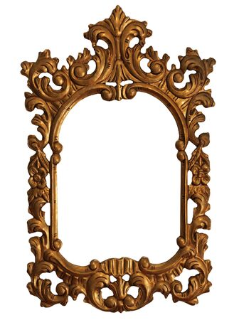 antique mirror: Baroque Gold Mirror  Picture Frame with Ornaments to put your owns pictures on it.