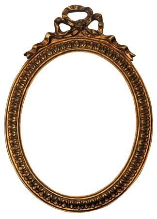oval shape: Baroque Gold Mirror  Picture Frame with Ornaments to put your owns pictures on it.