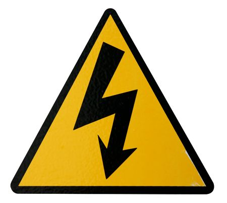 Isolated Real High Voltage Sign to use in your designs.  Stock Photo - 3790618