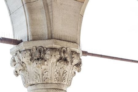in particular: Particular View of Palazzo Ducale (Venice Italy) pillar