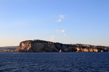 golfo: Detail of Golfo di Napoli (Naples Gulf) Cape Posillpo Stock Photo