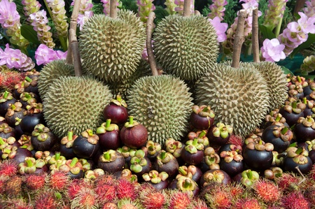 a picture of beautiful colorful thai fruits