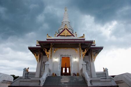 Shrine of the city god in yala city, thailand in the evening Stock Photo