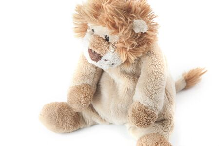 a picture of a cute lovely lion doll Stock Photo