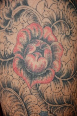 a picture of beautiful tattoo on skin Stock Photo