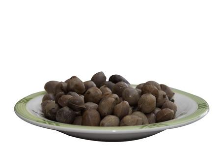 groundnut: Bambarra Groundnut isolate on white
