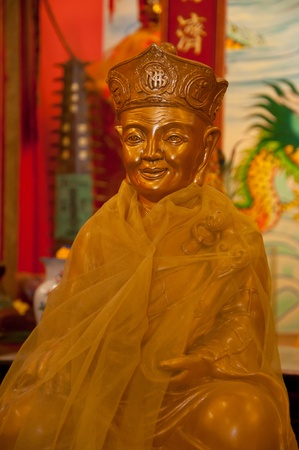 chinese monk statue