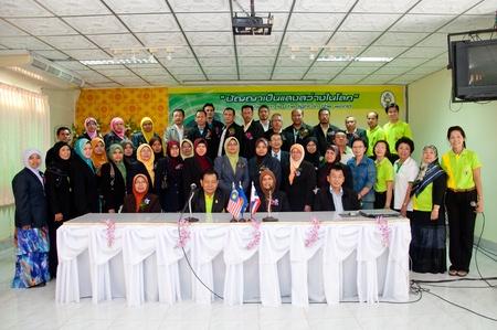 YALA, THAILAND - SEPTEMBER 16: unidentified Malaysian Teachers visit Kanarasdornbumroong school at Kanarasadornbumroong School on SEPTEMBER 16, 2011 in YALA, THAILAND