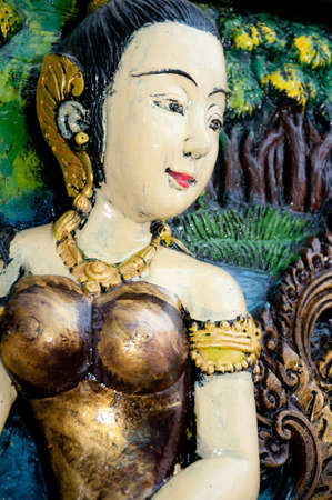 woman statue thai art in thai temple Stock Photo - 12037371