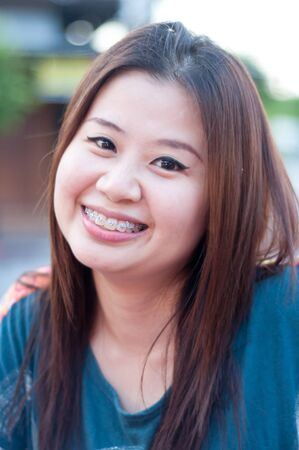 thai teen: asian thai attractive smile women Stock Photo