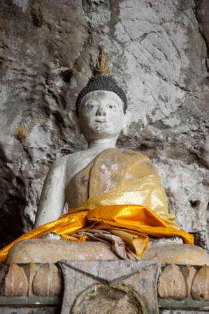 ancient buddha statue in cave temple yala, thailand Stock Photo - 11566507