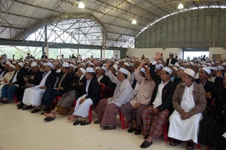 committee: YALA, THAILAND - NOVEMBER 24:Unidentified Islamic religious chief vote for yala Islamic committee election in Yala Islamic committee election on Nov 24, 2011 at Yala Youth Center, Thailand