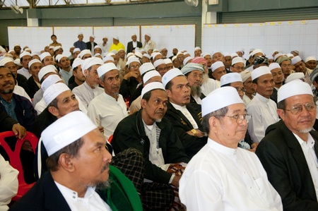 committee: YALA, THAILAND - NOVEMBER 24:Unidentified Islamic religious chief attend for yala Islamic committee election in Yala Islamic committee election on Nov 24, 2011 at Yala Youth Center, Thailand Editorial