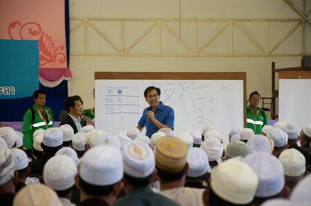 committee: YALA, THAILAND - NOVEMBER 24:Mr.Krissada Boonrach yala provincial governor speaks for yala Islamic committee election in Yala Islamic committee election on Nov 24, 2011 at Yala Youth Center, Thailand Editorial