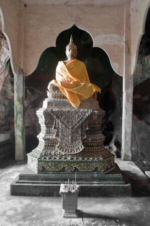 ancient buddha statue in cave temple yala thailand Stock Photo - 11669926